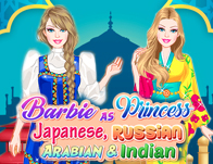 Barbie As Princess: Japanese, Russian, Arabian and Indian