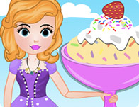 Sofia Cooking Cake Batter Ice Cream